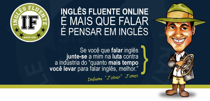 Indiana Jober Jones Máquina de Falar Inglês Curso Inglês Fluente Online